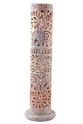 hashcart-269-cm-hohe-dekoratives-blumenmuster-und-elefant-handgeschnitzt-speckstein-raucherstabchenh