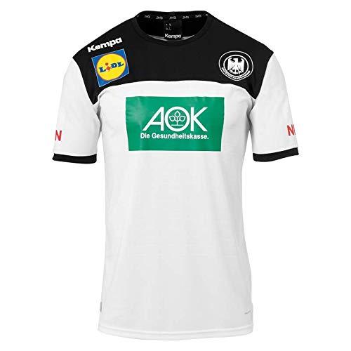 Kempa Handball Kinder DHB Trikot Home 2018 2019 Deutscher Handballbund Heimshirt weiß schwarz Gr 116
