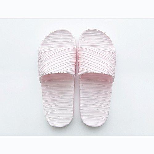 Doghaccd Zapatillas, Casa Verano Interior Parejas Antideslizantes Zapatillas, Casa Baño Fresco Zapatillas Verano Masculino, Azul Gris Cielo Azul Pink2