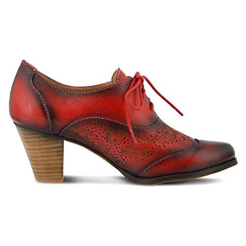 L'Artiste by Spring Step Agila Femmes Cuir Oxford red