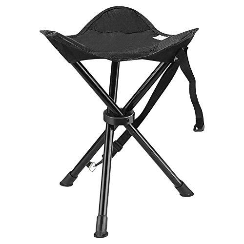 PROKTH | Portable Trépied Tabouret de Peche, Siege Camping, Chaises Pliant pour Camping en Plein Air Randonnée Chasse - Supporter Poids 120 kg