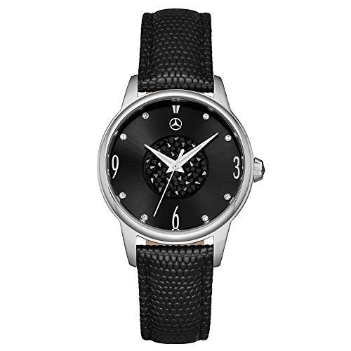 Mercedes-Benz Original Reloj de Pulsera Mujer Classic Glamour Negro