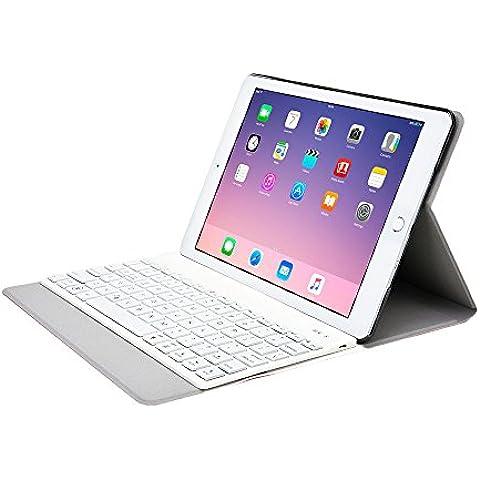 Funda tipo folio Aurora de Cooper Cases(TM) para iPad 2 de Apple en Rosa (Reposo/ activación automático; teclado Bluetooth 3.0 magnético extraíble; teclado QWERTY con 78 teclas; retroiluminación LED en 7 colores)