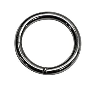 10mm Rundring (Innenmaß) O-ringe, geschweißt aus Stahl,aus 2,0mm dickem, vernickelt, 30 Stück