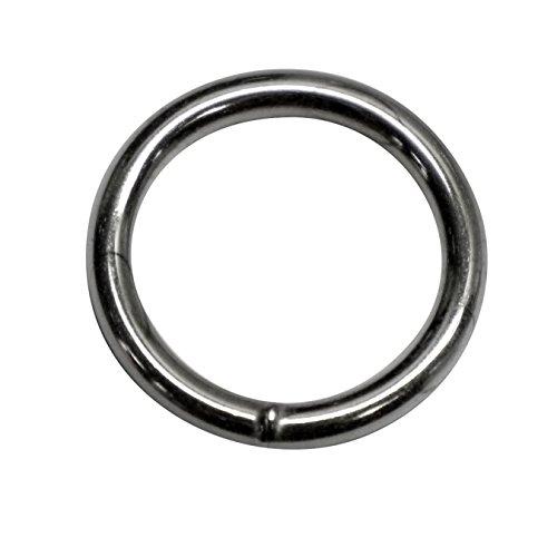 Kacperek 25mm Rundring (Innenmaß) O-Ringe, geschweißt aus Stahl,aus 4,0mm dickem, vernickelt, 15 Stück -