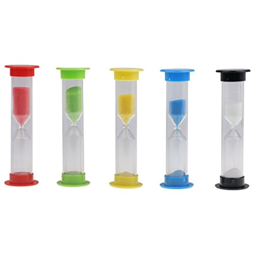 Sharplace 5 Piezas 30 S /1 / 3 / 5 /10 Mins Reloj de Arena de Plástico Temporizador de Arena