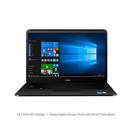 RDP ThinBook Atom Quad Core - (2 GB/32 GB EMMC Storage/Windows 10) 1430b Thin and Light Laptop(14.1 inch, Black, 1.36 kg) 1