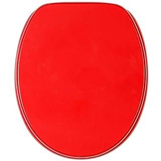 Sanilo WC Sitz mit Absenkautomatik Rot | hochwertige Oberfläche | einfache Montage | stabile Scharniere   A174443