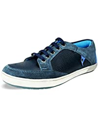 BACCA BUCCI MEN BLUE GENUINE LEATHER CASUAL SHOES - B01DQYAMTA