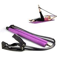 ZYJFP Equipo De Fitness De Cuerda De Yoga,Multifunción Palo De Pilates Adelgazar Barra Elástica Extractor De Relajación Muscular,Púrpura