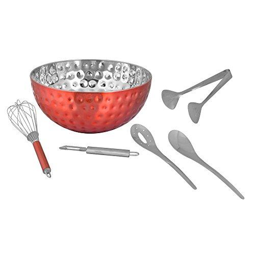 Kosma-Set di 6-Set per insalata Insalatiera martellato