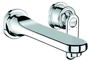 grohe veris 2 loch waschtischbatterie chrom 19342000 baumarkt. Black Bedroom Furniture Sets. Home Design Ideas