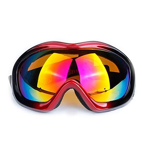 Aienid Schutzbrille Chemie Rot Schwarz Skibrille Winddichter Augenschutz Size:17X8.5CM
