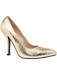 Andres Machado.AM591.Zapatos Salon.Mujer.Tallas Pequeñas y Grandes. 32/35- 42/45. Mujer.