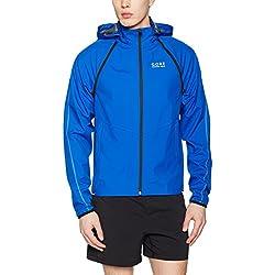 Gore Running Wear Sudadera Running Ligera Para Hombre Resistente Al Viento Gore Windstopper Talla S Azul Eléctrico