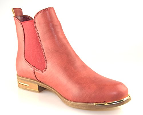 BTS-bottes chelsea femme avec poches latérales elastikeinsatz. nouvelle collection automne/hiver 14/15–couleur :  rouge taille :  36 à 41 Rouge - Rouge
