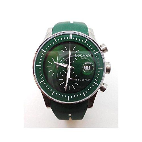 Orologio Locman ISLAND RIF.620_-_C1432 Al quarzo (batteria) Titanio Quandrante Verde Cinturino Silicone