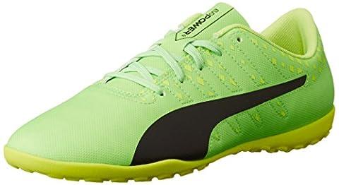 Puma Unisex-Kinder Evopower Vigor 4 TT Jr Fußballschuhe, Grün (Green Gecko-Puma Black-Safety Yellow 01), 30