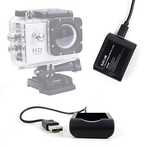Chargeur pour SAVFY Multifonction Action camera SJ4000 30M - caméra sport / embarquée Full HD 1080P - adaptateur USB - Garantie 2 ans - DURAGADGET