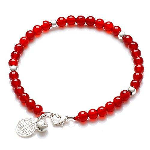 Catene di moda onyx/925 Silver Pendant/ Catena di piede di cristallo/ gioielli fermaglio a forma di