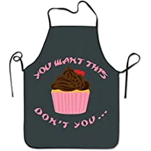 GAMSJM - Delantal de Cocina Personalizado para Cupcakes, para Cocina, Cocina, Cocina,
