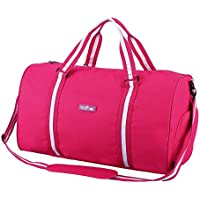 28d10ef2c8bb Apollowalker Water Resistant Sports Gym Travel Weekender Duffel Bag with  shoe compartment Hot Pink
