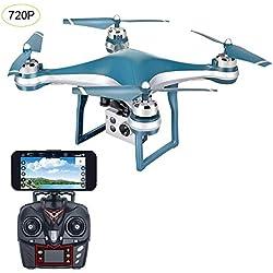 Drone con cámara HD RC Drone sigue automáticamente el modo sin cabeza Quadcopter de la aplicación de posicionamiento GPS de 5G WiFi FPV en tiempo real, regalo de helicóptero para niños