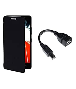 SSR Flip Cover for Motorola Moto E2 Gen XT15061505 With Free One OTG CABLE