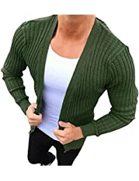 Manalian Herren Sweatshirt Männer Beiläufig Sweatshirt Slim Fit Lange Ärmel  Gestrickt Strickjacke Graben Mantel Jacke 3ba0d78a6b