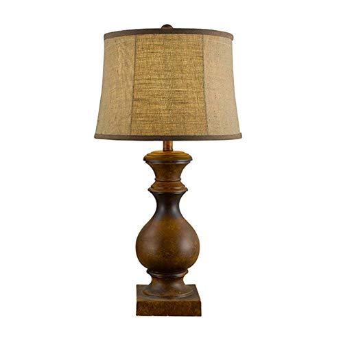 JFHGNJ lámpara de mesa Home Hotel Vintage Base de resina de madera ...