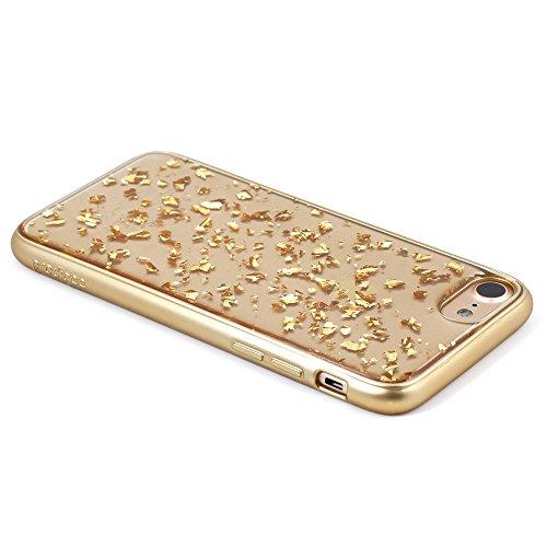 """Apple iPhone 8 (2017) 4.7"""" & iPhone 7 case, Prodigee [Scene Treasure] Gold Schutz dünn Hülle Stück dünner dünnfor iPhone 7 (2016) 4.7"""" Phone Case w/ Sparkling Flakes Gold"""