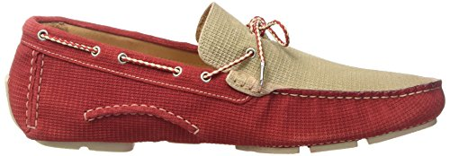 GOLD BROTHERS Racer Patch, Mocassins (loafers) homme Rouge
