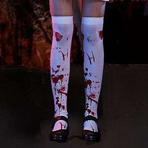Mittelalter kostüm,11 Farben Frauen Vintage Gothic Skeleton Cosplay Kostüme Halloween Scary Langes Kleid Zombie Braut Lolita Krankenschwester Kleid Overall@EIN Strumpf_M