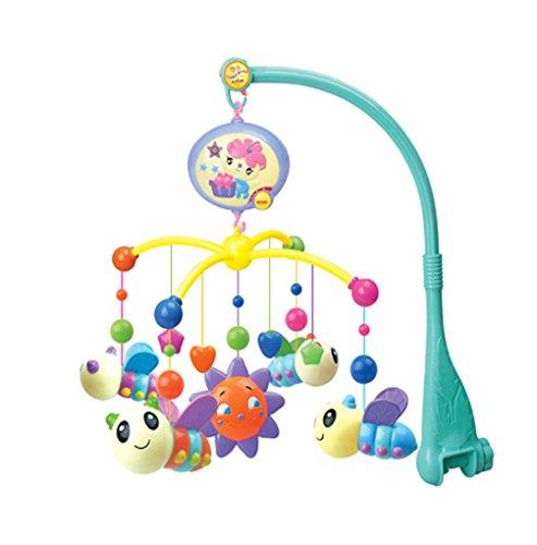 FongFong Musik Mobile Spieluhr-Mobile mit Süße Biene Baby Bett Bell Sound Spielzeug Baby Krippe Bell Musik pädagogisches Spielzeug Mobile mit Musik für Kinderbett