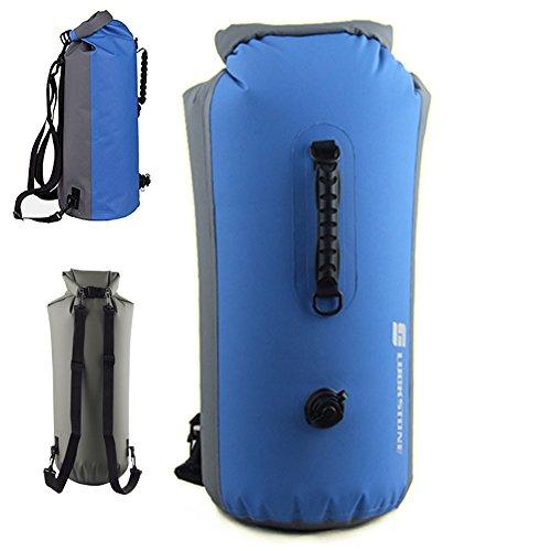 gossipboy 25L leicht aufblasbar faltbar Wasserdichter Roll-Top Dry Bag Rucksack für Strand, Wandern, Kajakfahren, Angeln, Camping und andere Outdoor-Aktivitäten, blau
