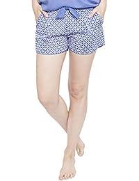 Cyberjammies 4108 Womens Isla Blue Tile Pyjama Short
