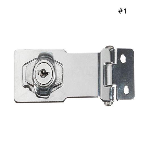 Sunsline 2.5in/3in/4in Stahl Schließzylinder HASP Stapeln Garage Tor Türschloss Vorhängeschloss 2 Schlüssel Set (4in)
