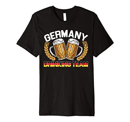 Germany Drinking Beer Team Oktoberfest German Beer T-Shirt