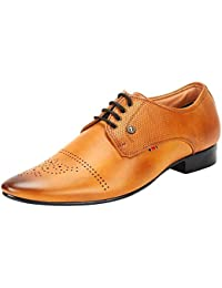 Goose Men'S Tan Synthetic Leather Lace Up Formal Shoes (Goose5)
