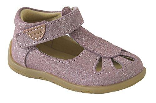 MOVE Infant Girls Sandal, Chaussures Marche Bébé Fille Pink (Lavanda)