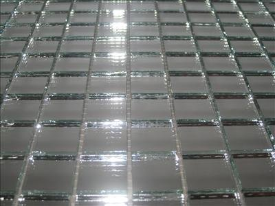 25 x 25 mm, con tasselli a specchio con retro in rete, spessore 4 mm, (4 Mm Specchio)
