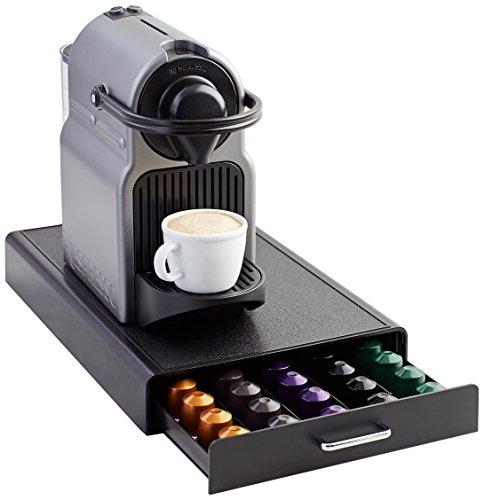 AmazonBasics - Cassetto per capsule per Nespresso, capacità: 50 capsule