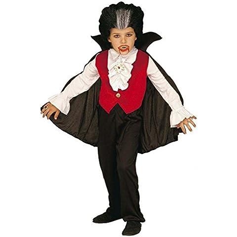 Niños Conde Drácula Niño 128cm Terciopelo Traje Pequeño 5-7 años (128cm) para Halloween vestido de lujo del vampiro