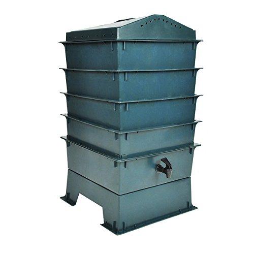 vidaXL Wurm Farm 4 Tabletten inkl. Einstreumaterial Wurmkomposter Komposter Jardin Tee