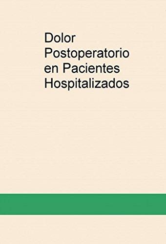 Portada del libro Dolor Postoperatorio en Pacientes Hospitalizados