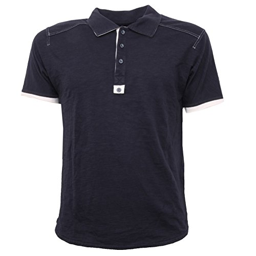 B3319 polo uomo MARITHE FRANCOIS GIRBAUD blu without label t-shirt polo men [M]