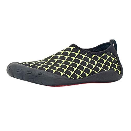 TianWlio Sportschuhe Herren Sneaker Outdoorschuhe Sommer Männer Quick Dry Aqua Socken Barfuß Outdoor Strand Schwimmen Yoga Flachwasserschuh Grün 41 -