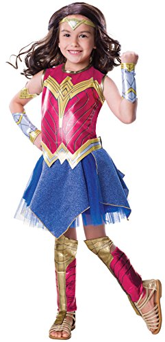 (Rubies Justice League Girls Deluxe Wonder Woman Costume M)