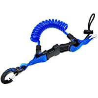Scuba Choice Diving Shark Coil Lanyard with 1 Snap and Quick Release Buckles Blue