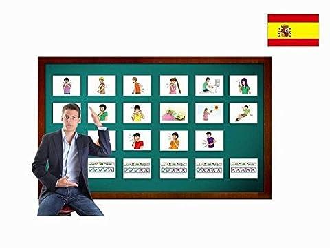 Bildkarten zur Sprachförderung in Spanisch - Beschwerden - Tarjetas de vocabulario - Einfach Spanisch lernen